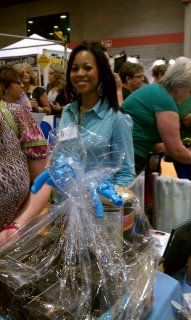 Bethany from Huntsville working the crowd..Booking Chocolate Tasting Party's.she can be reached at bethanylewis@yahoo.com