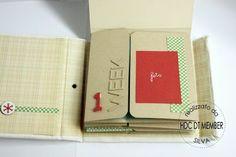 "Hobby di Carta - Il blog: Mini album: tuto""December Weekly"" by Silva"