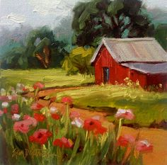 Erin Dertner's Painting- Hill Country Poppies