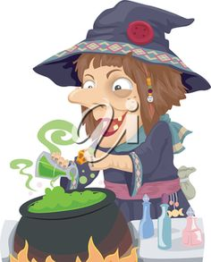 Illustration of a Witch Mixing Potions in a Cauldron Halloween Clipart, Cauldron, Clipart Images, Royalty Free Images, Witch, Clip Art, Illustration, Anime, Fictional Characters