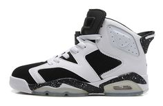 Nike Air Jordan AJ6 Retro Jordan 6 Basketball Shoes Men And Women White Black Spot Oreo|only US$98.00 - follow me to pick up couopons.