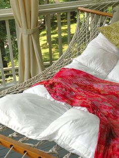 Outdoor Lounging Spaces: Daybeds, Hammocks, Canopies and More---Nap in the sun (or the shade) with our best ideas for hammocks, daybeds, cabanas and more.