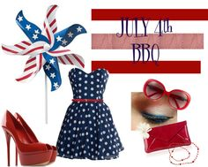 July 4th, created by rebelgrl on Polyvore