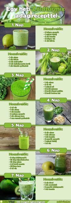 Nem véletlen, hiszen nem csak nagyon finomak de nagyon egészségesek is. Clean Eating Recipes, Raw Food Recipes, Diet Recipes, Healthy Recipes, Yummy Smoothies, Smoothie Recipes, Herbal Remedies, Natural Remedies, Healthy Drinks