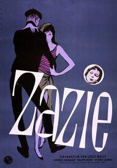 Bruno Rehak, german poster for Zazie le metro by Louis Malle, 1960