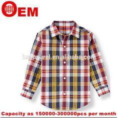 boys shirt 2015 casual plaid shirt for boys long-sleeved factory shirts