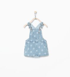 Floral denim pinafore from Zara Baby Girls