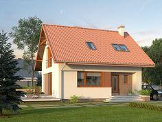 DOM.PL™ - Projekt domu MT Jagoda CE - DOM ST9-69 - gotowy projekt domu
