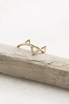 Ups + Downs Gold Ring | ShopDressUp.com