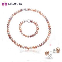 J.MOSUYA 8-9 mm Natural Pearl Jewelry Set For Women Christmas Gift, Color Freshwater Pearl Set //Price: $85.67 & FREE Shipping // Get it here ---> https://bestofnecklace.com/j-mosuya-8-9-mm-natural-pearl-jewelry-set-for-women-christmas-gift-color-freshwater-pearl-set/    #Necklace
