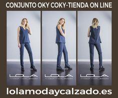 Conjunto OKY COKY, chaleco + pantalón.   Pincha este enlace para comprar tu conjunto en nuestra tienda on line:  http://lolamodaycalzado.es/otono-invierno-2016/863-conjunto-pantalon-chaleco-oky-coky.html