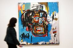 A painting by the late New York artist Jean-Michel Basquiat breaks several price records. Jean Michel Basquiat, Basquiat Paintings, Expressionist Artists, Black Artists, Art Auction, American Artists, Art History, Modern Art, Contemporary Art