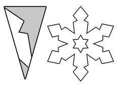 plantilla copos de nieve de papel