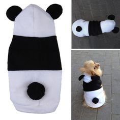 Pet Dog Clothes For Dogs Pets Costume Clothing Fleece Panda Ear Hoody Clothes Pullover Coat Costume Outwear ropa para perros Panda Costumes, Pet Costumes, Puppy Costume, Bear Costume, Chihuahua, Dog Fleece, Polar Fleece, Dog Branding, Dog Clothes Patterns