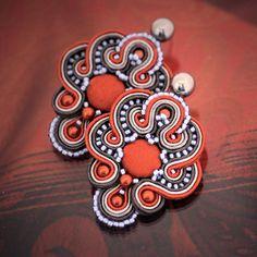 Soutache earrings Claude   author: Zuzana Hampelova Valesova (Lillian Bann)   www.z-art-eshop.cz   http://www.facebook.com/pages/Z-ART/539656212733510