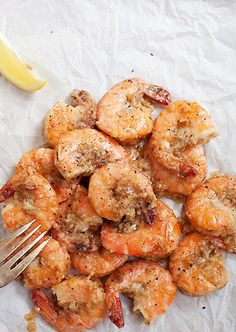 Garlic butter shrimp.Fried shrimp with garlic,butter and dry white wine.Excellent appetizer!!!