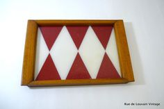 Art Deco serving tray, geometric cocktail tray, reverse painted glass tray, cocktail salver by RueDeLouvain on Etsy
