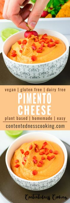 This Easy Vegan Pimento Cheese recipe will blow you away. It's spicy, comforting, satisfying, cheesy, delicious, healthy – your new favorite vegan cheese to dip in!