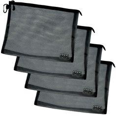 Amazon.com: Travel Accessories Organizer (4-piece set of Large, Black): Clothing