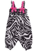Rare Editions Baby Girl Zebra Spangle Romper (3m-24m)