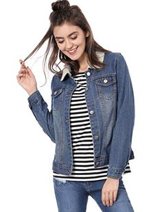 • This trendy western style denim jacket comes with a stylish imitated shearling collar. In washed non-stretch blue denim, this cool cover-up features two chest pockets, and buttoned cuffs. • Team with denim jeans and a basic tee for daytime-cool. • Body size chart shows fitting size, please chec...  More details at https://jackets-lovers.bestselleroutlets.com/ladies-coats-jackets-vests/denim-jackets/product-review-for-allegra-k-womens-imitated-shearling-collar-denim-