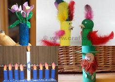 Website listing many ideas of crafts that can be made from toilet paper rolls.