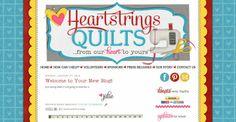 Heartstrings Quilts | blog design