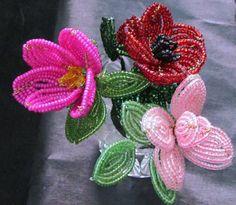 Vintage French Beaded Flowers | Beading | Pinterest