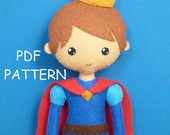 PDF sewing pattern to make a prince of charming.