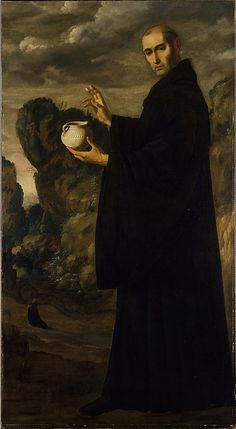 Photo Mug-Saint Benedict, ca. Creator: Francisco de Zurbaran-Photo Mug made in Australia Spanish Painters, Spanish Artists, Religious Paintings, Religious Art, Catholic Art, Catholic Saints, Caravaggio, Francisco Zurbaran, Museum Kunstpalast
