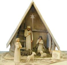 Really Want this Willow Tree Nativity Set...Add to it every year until the set is complete with all animals, wiseman, etc.