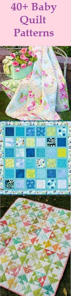 40+ Baby Quilt Patterns. Keep your little one cozy with adorable quilts for boys and quilts for girls. Plus, these baby blanket patterns make wonderful baby shower gifts!