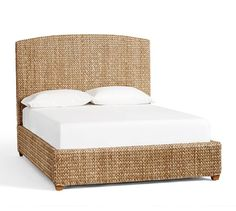 Seagrass Bed & Headboard | Pottery Barn - for guest bedroom in King