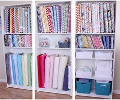 KdBuggie Boutique: Craft Room Renovation Sneak Peek {fabric storage}