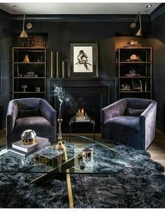Symmetry Dark Luxe Drama Shelves