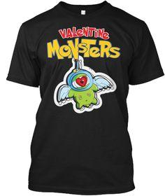 Valentine Monster ! Valentine Monster ! Black T-Shirt Front