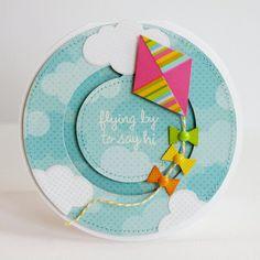 Card: Lori Whitlock Kite Penny Slider Card by Mendi Yoshikawa