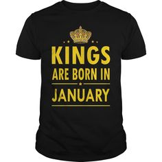 Kings are born in January shirt and hoodie