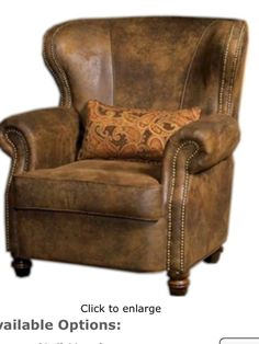 Remington Wing Back Chair ~ Dodgeville Livingroom Collection