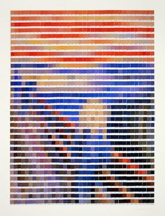 nick smith famous art recreated from pantone color chips the scream by edvard munch - Pantone Color Swatch Book