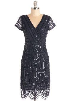 Cascading Cava Dress in Midnight $174.99 AT vintagedancer.com