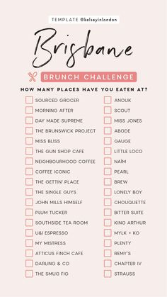travel tip australia Sydney brunch challenge Travel Checklist, Travel List, Travel Goals, Travel Guides, Europe Destinations, Jobs For Teens, List Challenges, Sydney Restaurants, Instagram Story Template