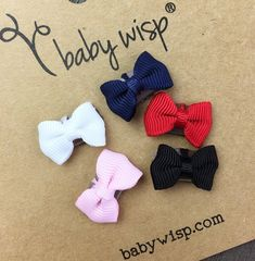 d235745bae2 Mini Latch Tuxedo Grosgrain Bow Collection - Basic Colours Baby Bows