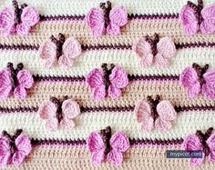 1 of 2 | MyPicot | Crochet Butterfly Pattern | Free crochet patterns