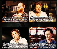 Joss, Chris, Mark, and Tom talking about Robert Downey Jr