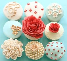 bridal shower cupcakes...oh so pretty and girly