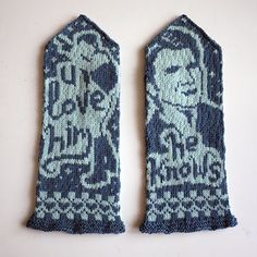 "Princess Leia: ""I love you."" ""I know."" Star Wars Scoundrel mittens knitting pattern"