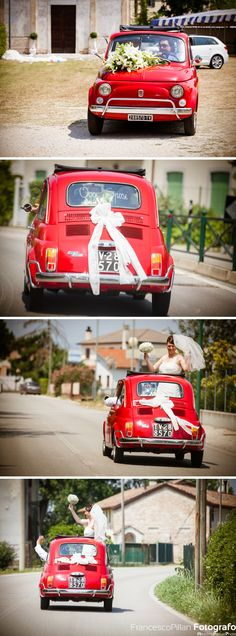 foto matrimonio lancenigo treviso sposi in auto epoca