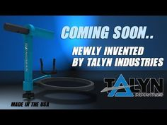 The Hangman tool holder - a new ladder accessory by Talyn Industries.  Made in the U.S.A.