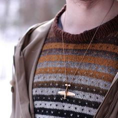Einar wearing the in bronze. Bronze Jewellery, P51 Mustang, Infinite, Jewerly, Arrow Necklace, How To Make, How To Wear, Board, Instagram Posts
